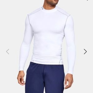NWT Under Armour Mens Cold Gear Compression Mock L